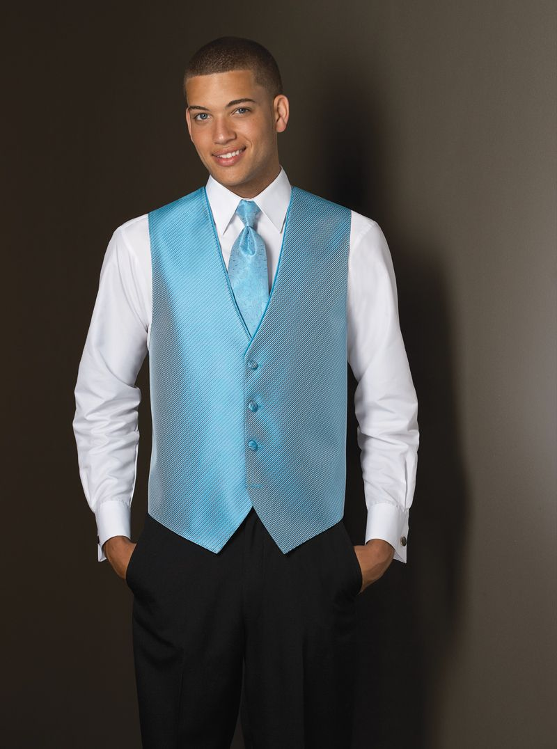 Malibu Blue (synergy) Tuxedo Vest - Click to close window ...