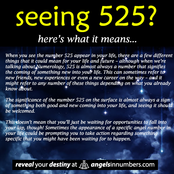 Seeing 525 Angel Number Billedgalleri - whitman gelo-seco info