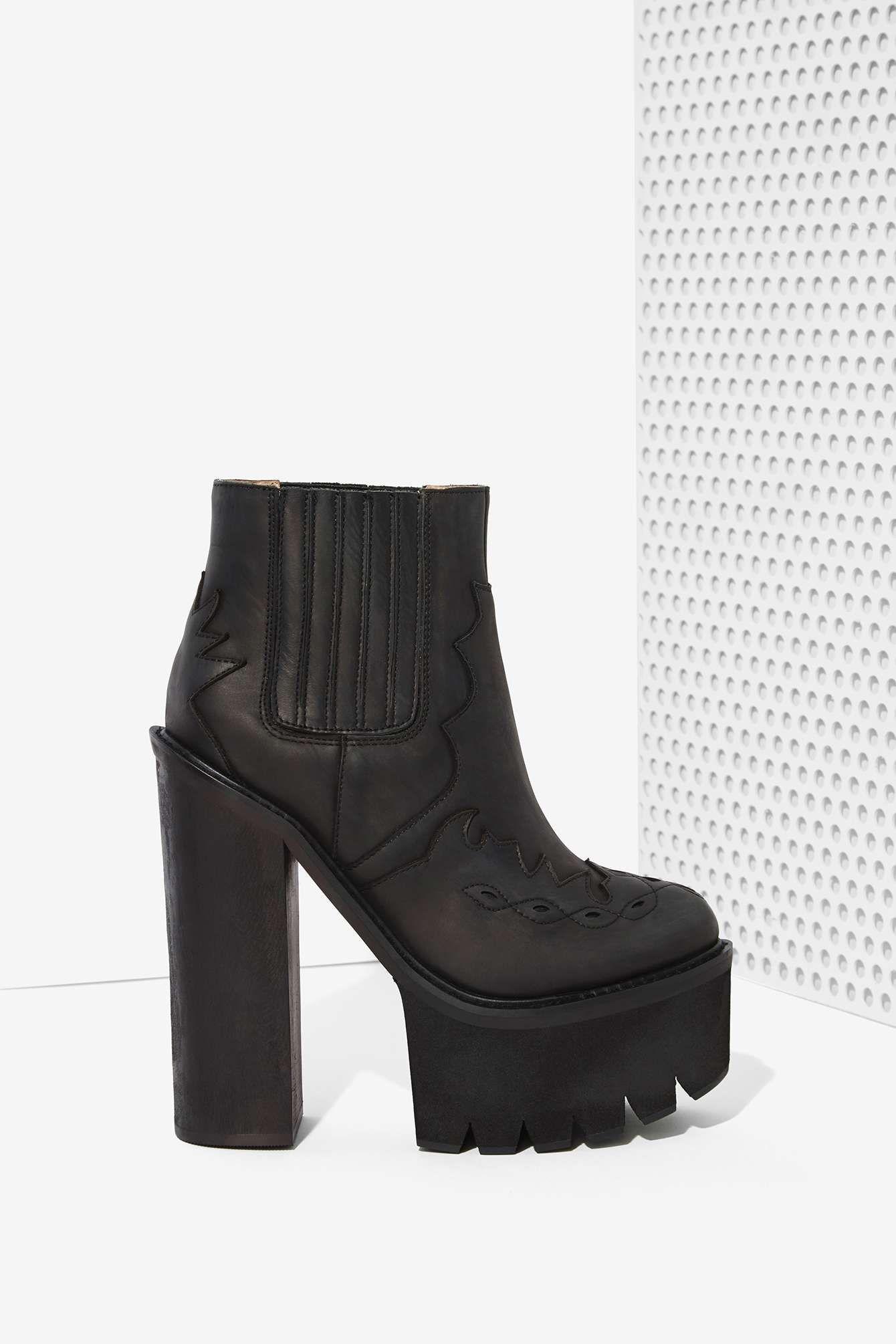 Jeffrey Campbell Bounty Leather Platform Boot Zapatos Zapatos Zapatos <3 b3ddfe