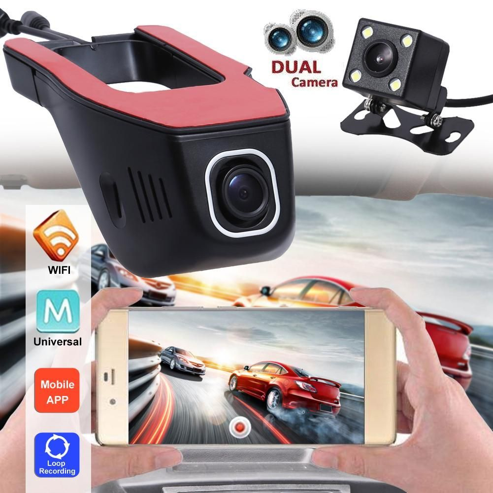 Rearview Mirror Stealth Dash Cam with Smartphone Viewing App