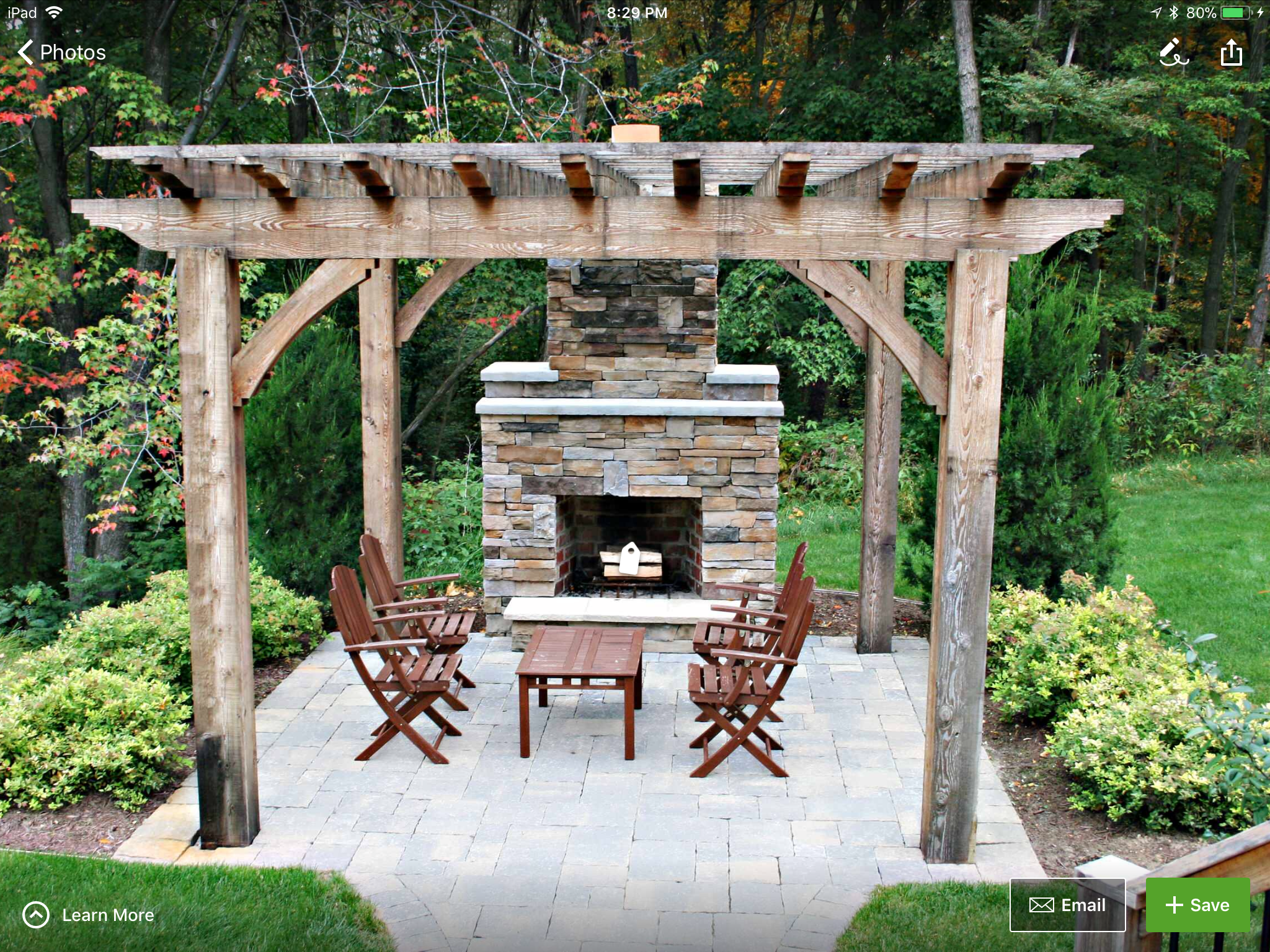 Pin By Roma On Back Deck Rustic Patio Backyard Patio Outdoor Pergola