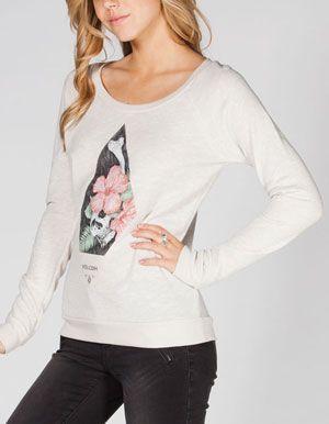 8203851d67c VOLCOM Love Womens Sweatshirt | shit i wanna wear | Sweatshirts ...