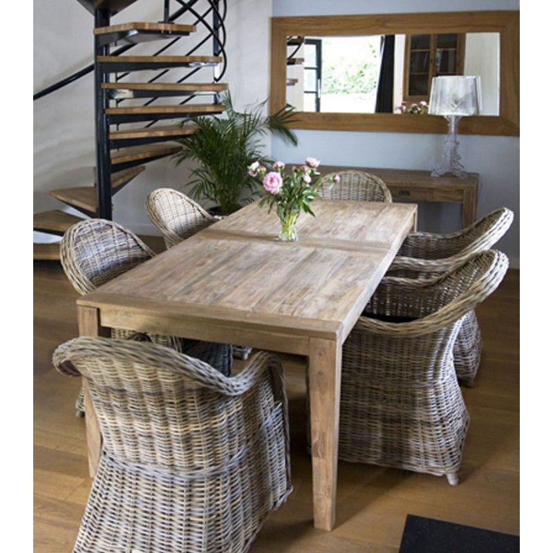 Table En Teck Recyclé Bremen - Teckandco | Meubles En Teck