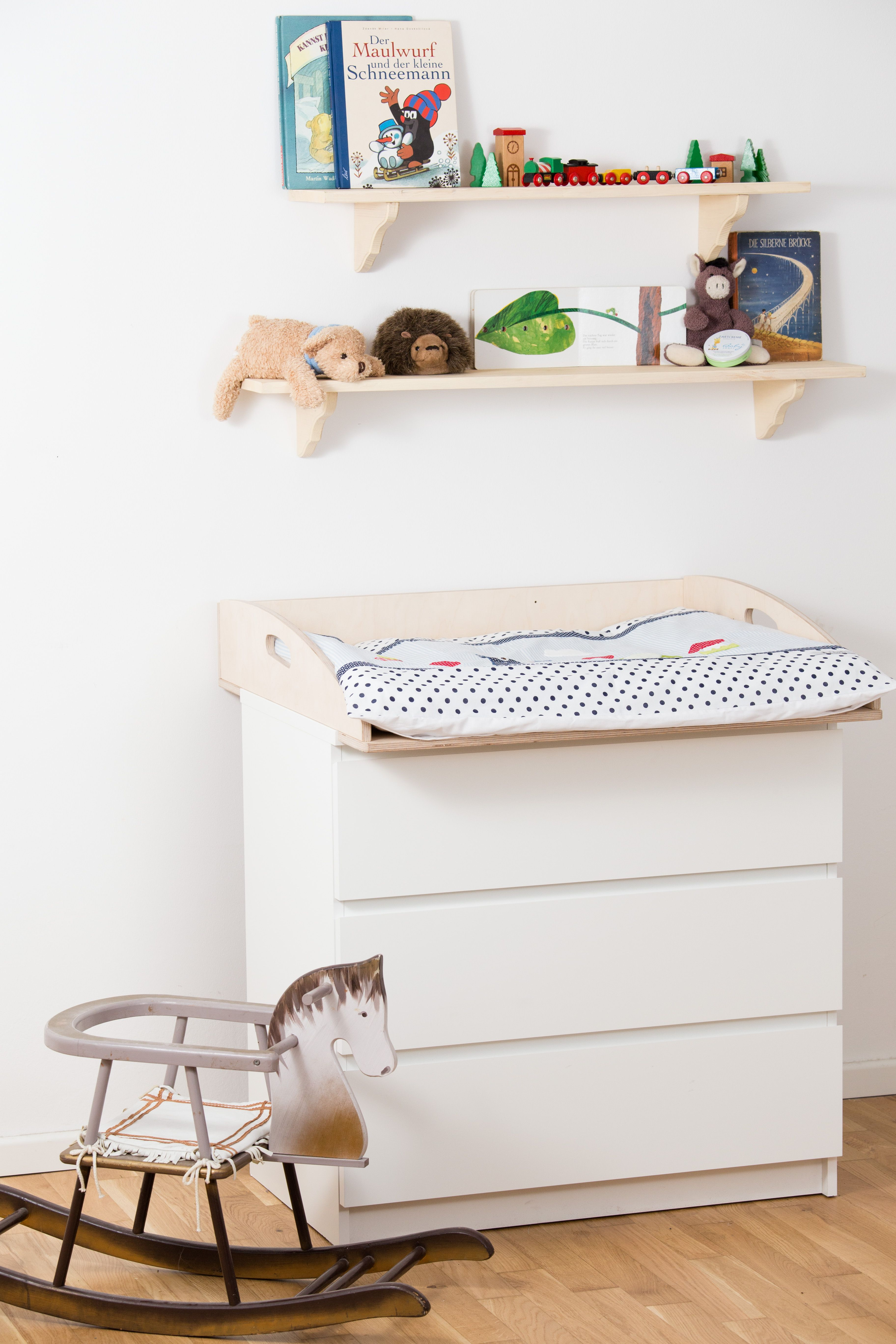 Ikea Wickelaufsatz Fur Malm Kommode Aus Birkenschichtholz Mit
