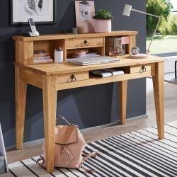 Schreibtisch 124cm 'Goeteborg' Kiefer eichefarbig Main MöbelMain Möbel
