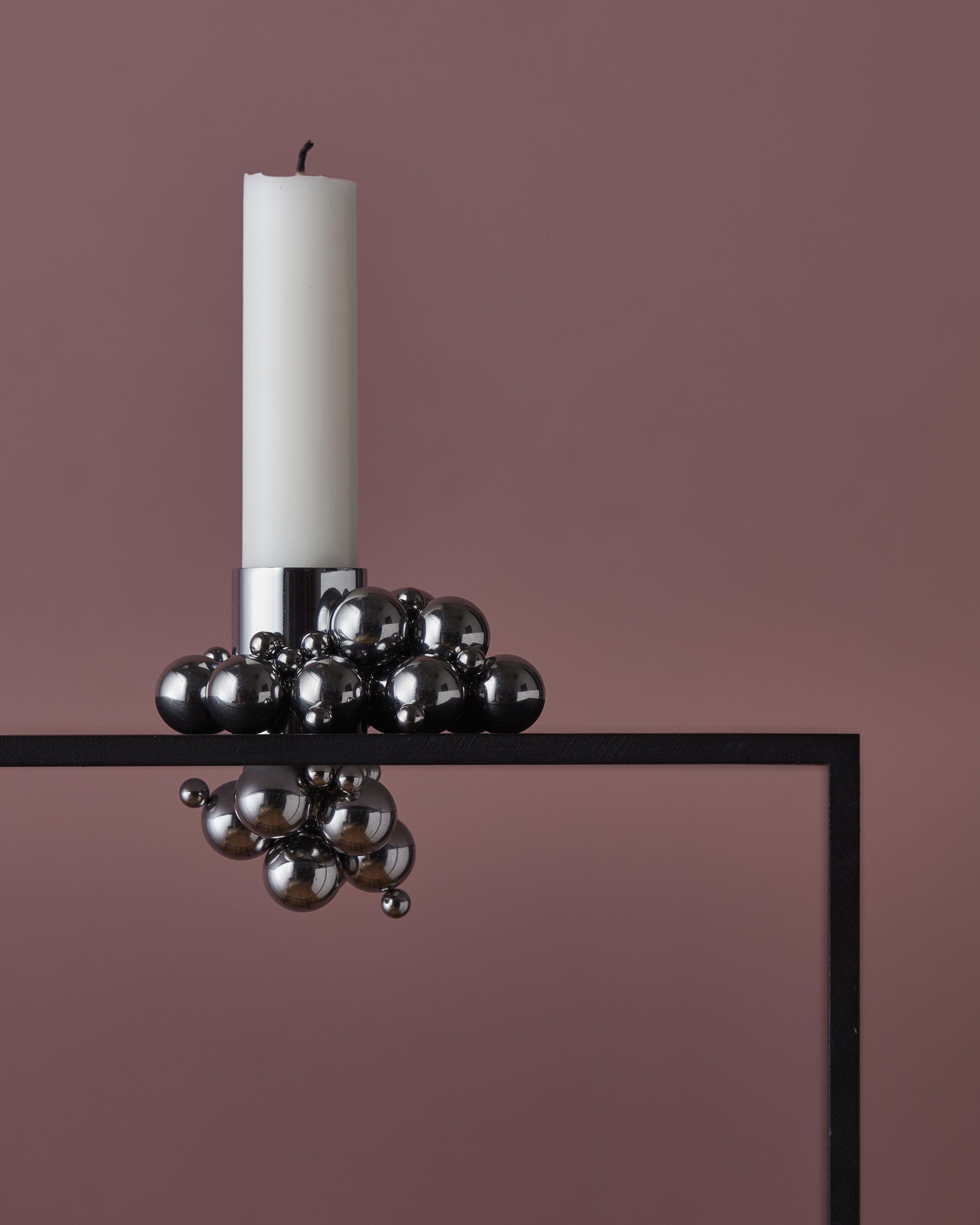 Molekyl candle holder 1 chromeby gejst