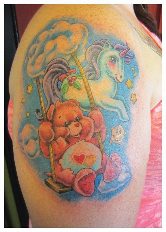 Care Bear  My Little Unicorn  Horseunicorn Tattoos -4873