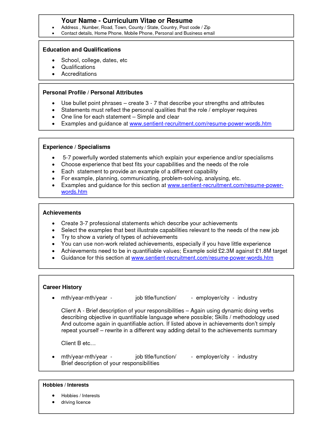 Resume Examples Free Sales Template Word Key Strengths Curriculum
