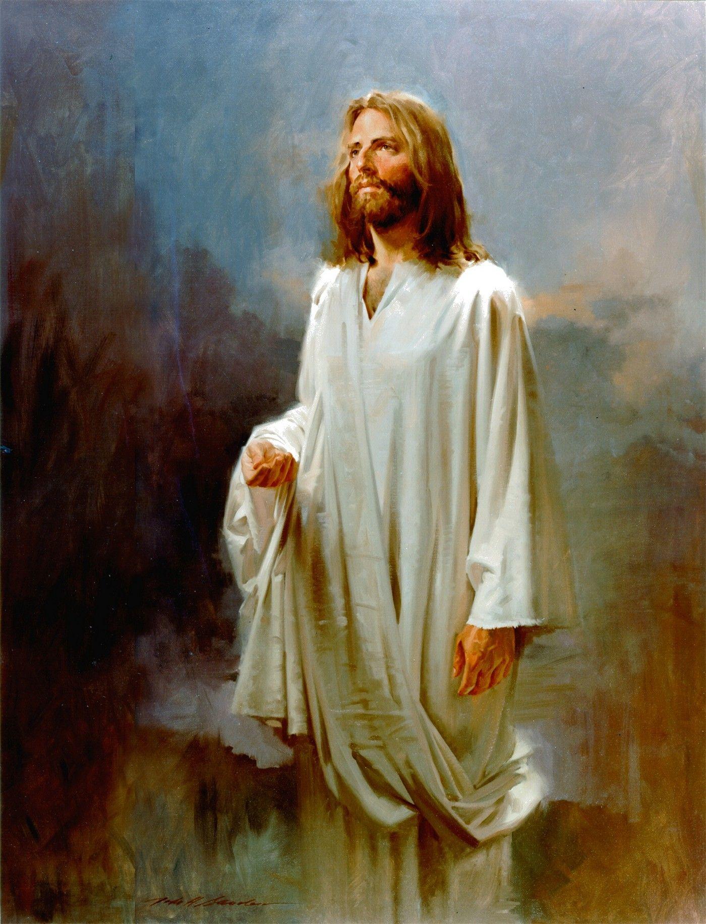 Jesus Christ Oil Painting John Howard Sanden American Portrait