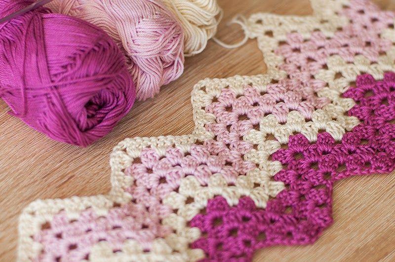 Cup Of Color Crochet Granny Ripple Blanket Crochet Pinterest