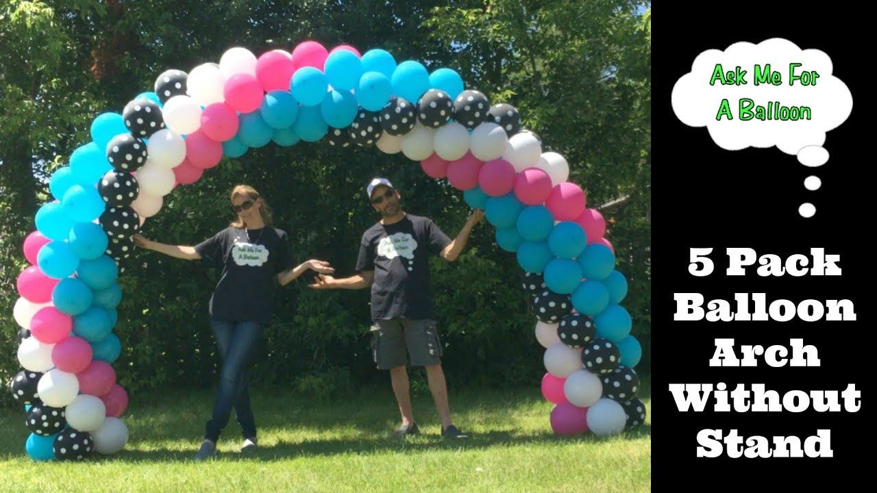 how to do a balloon arch with stand