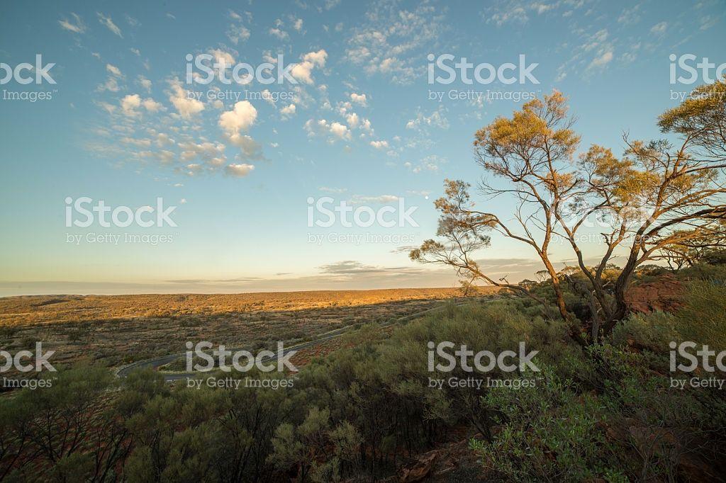 Beautiful Sun Setting Down On The Australian Outback Kings Canyon