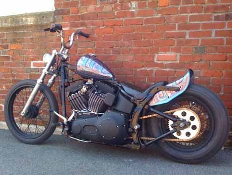 2003 Harley Davidson Night Train Twin Cam Softail Bobber Motorcycle Softail Bobber Softail Rat Bike