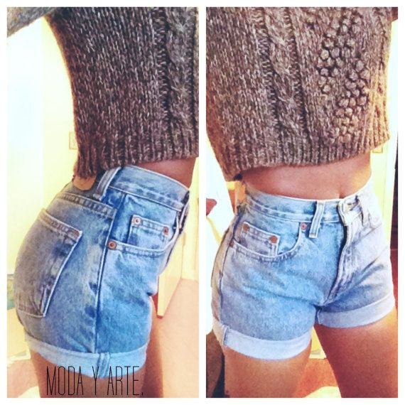 c148f2690f ORIGINAL BLUES (SALE) High Waisted Shorts levis wrangler, gap, guess on  Etsy, $30.00