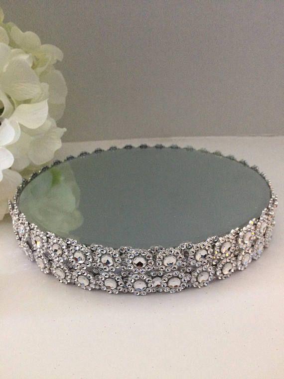 Round Mirror Wedding Centerpiece Riser