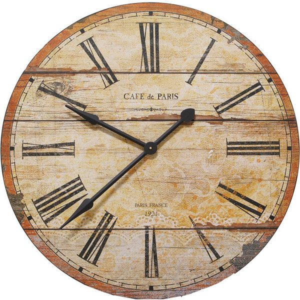 Café De Paris Wall Clock The Import Collection Liked On Polyvore Featuring Home Home Decor Clocks Decor Fillers Oggett Paris Wall Clock Wall Clock Clock