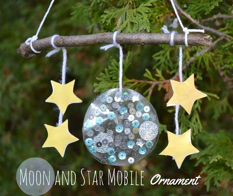 Moon And Star Mobile Christmas Ornament Christmas Ornaments Moon Crafts Christmas Crafts