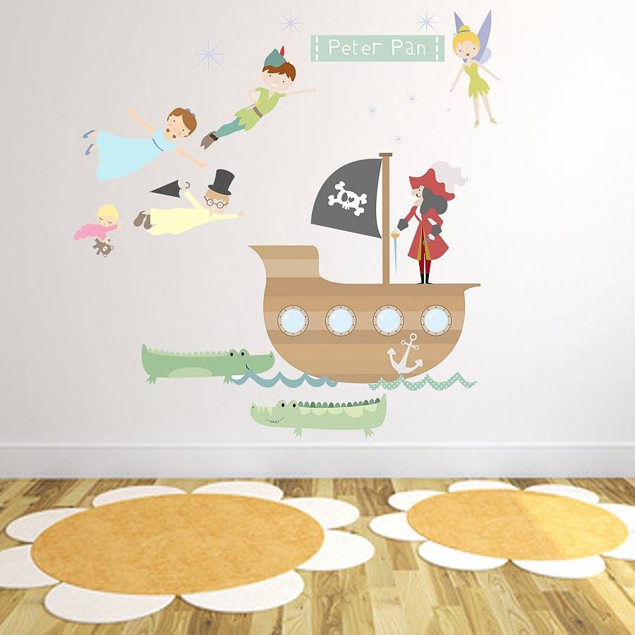 Peter Pan Fabric Wall Stickers By Littleprints | Notonthehighstreet.com