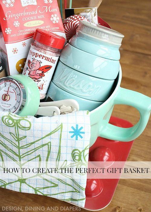 Nice Christmas Baking Gift Basket Ideas Part - 11: How To Create The Perfect Gift Basket + Free Printable. Baking Gift BasketsHoliday  ...