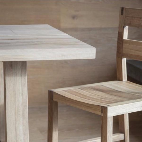 Contemporary Hudson Living Kielder Oak Dining Table Crafted Using A Light  Mellow Oak. Solid Oak