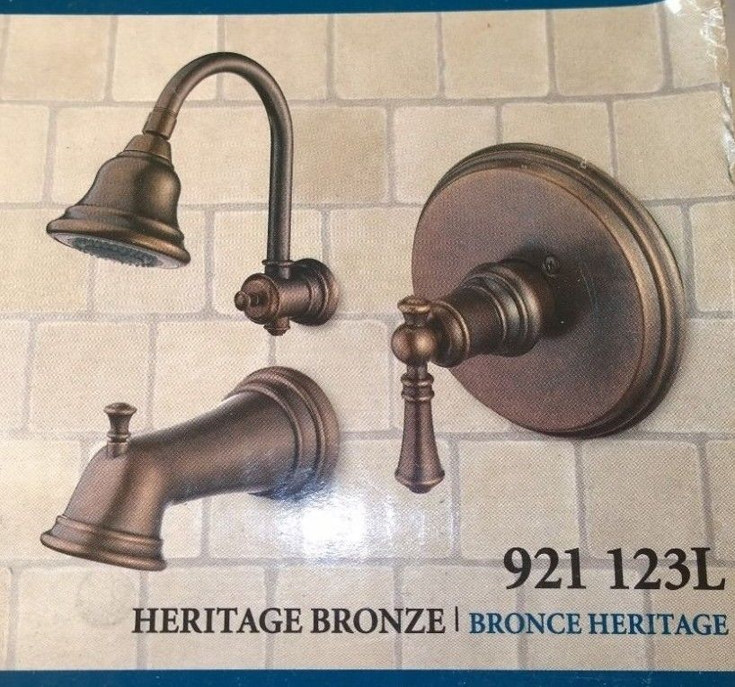 Pegasus Estates Single Handle Tub Shower Faucet Heritage Bronze Pegasus Tub And Shower Faucets Shower Set Shower Tub