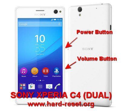 Hard Reset SONY XPERIA C4, 4G LTE smartphone with single simcard or