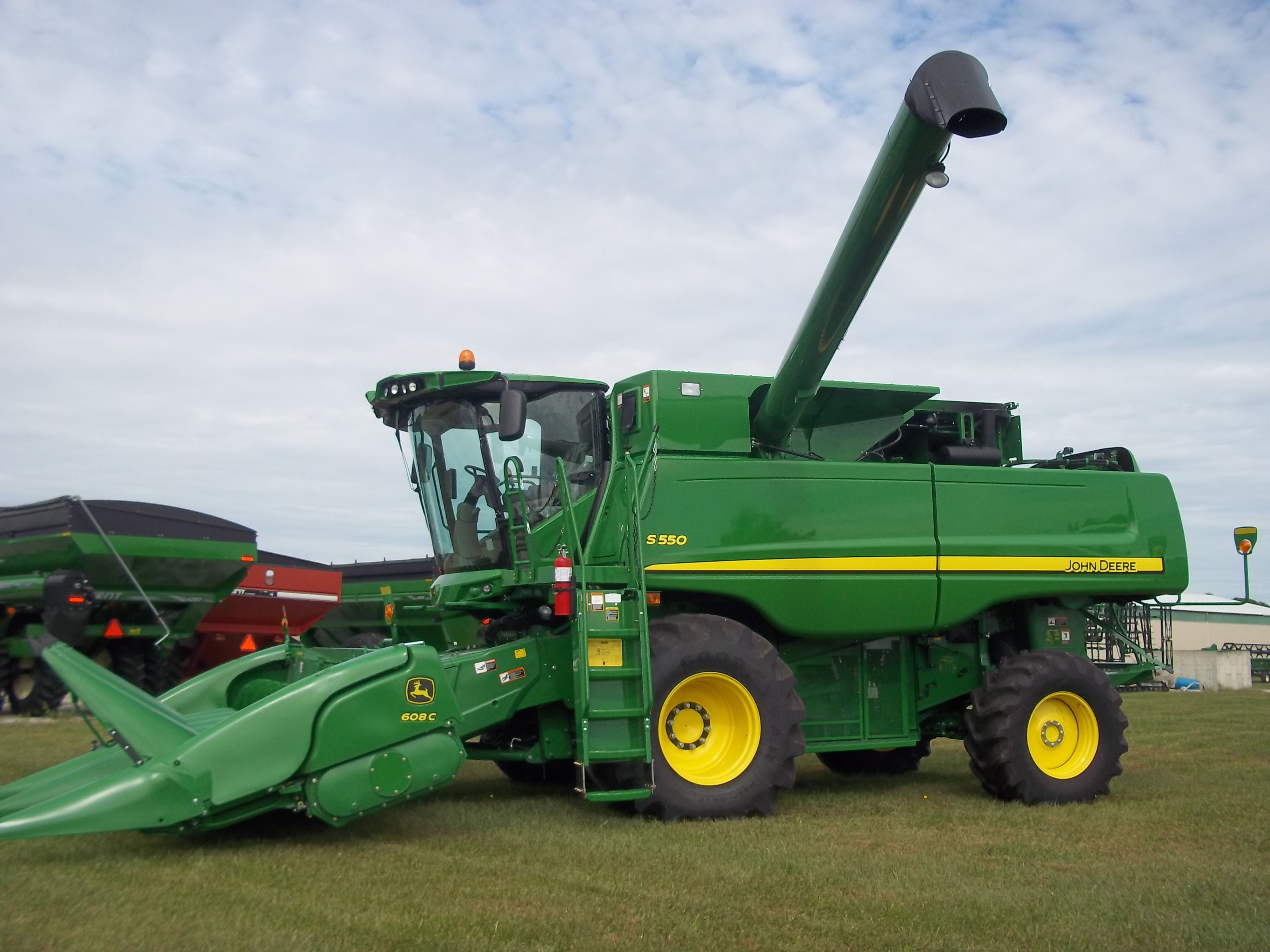 The only John Deere S550 I have ever seen.THis replaced the 9570.Rumor