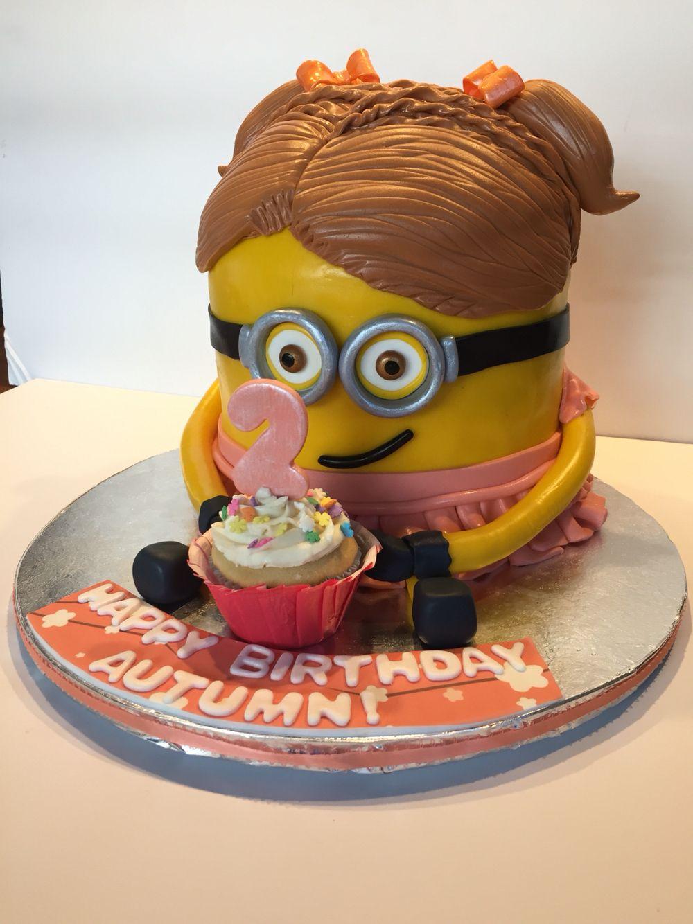 Girl Minion Gluten Free And Dairy Birthday Cake