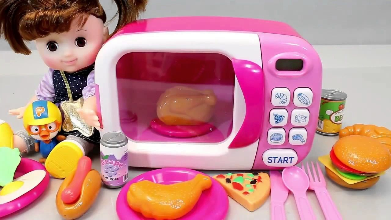 Baby Doll Microwave Cooking Oven Toys Kitchen Playset With