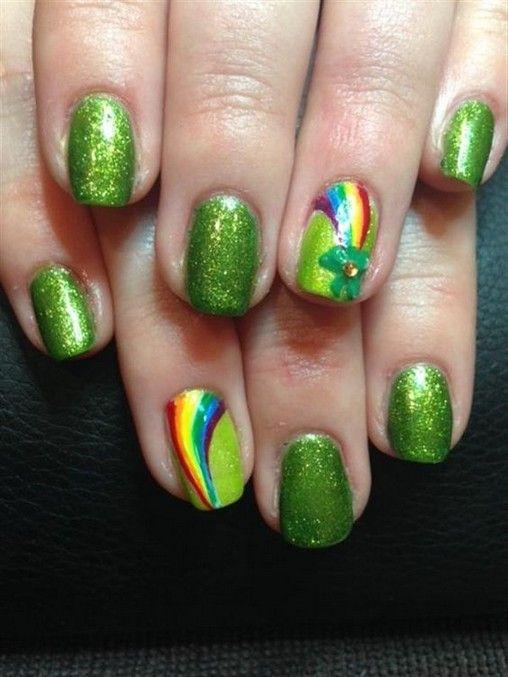 25 super fun st patricks day nail art ideas 6 – InspireandIdeas