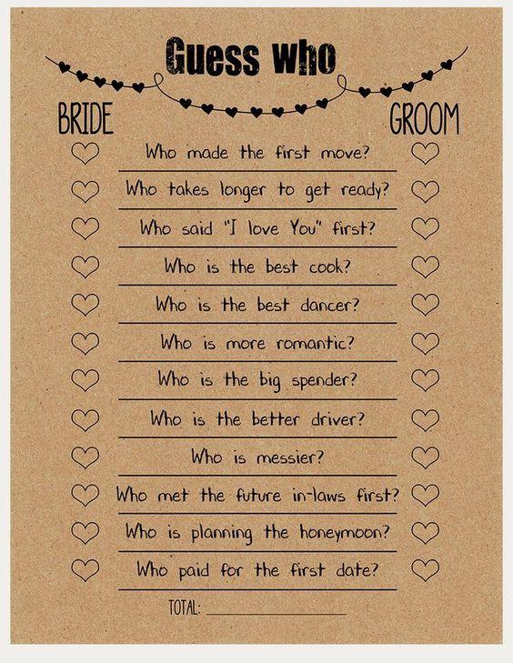 Wedding games!