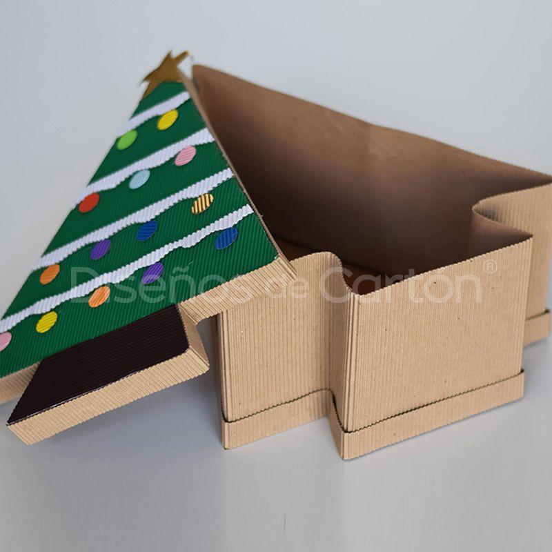 Cajas Para Regalo Caja Pino Navideña Cajas De Papel Corrugado Cajas De Navidad Cajas De Regalo