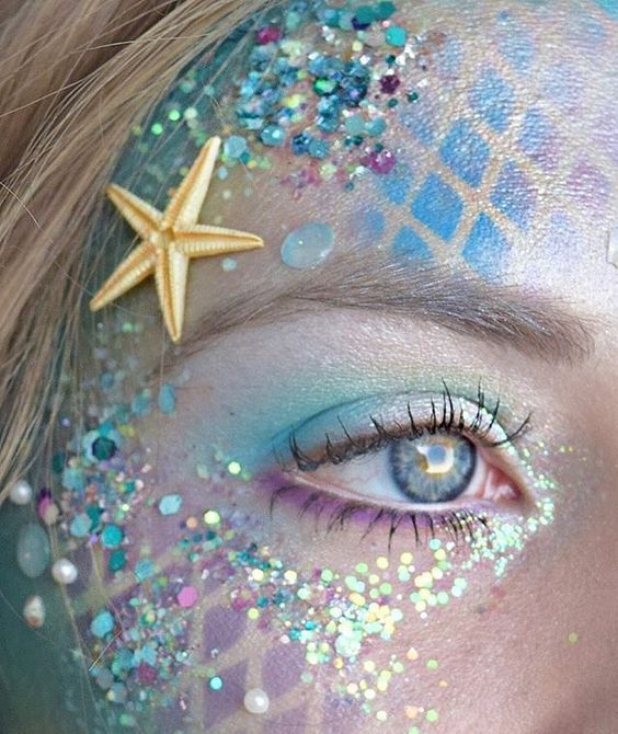 @evatornado mermaid makeup look