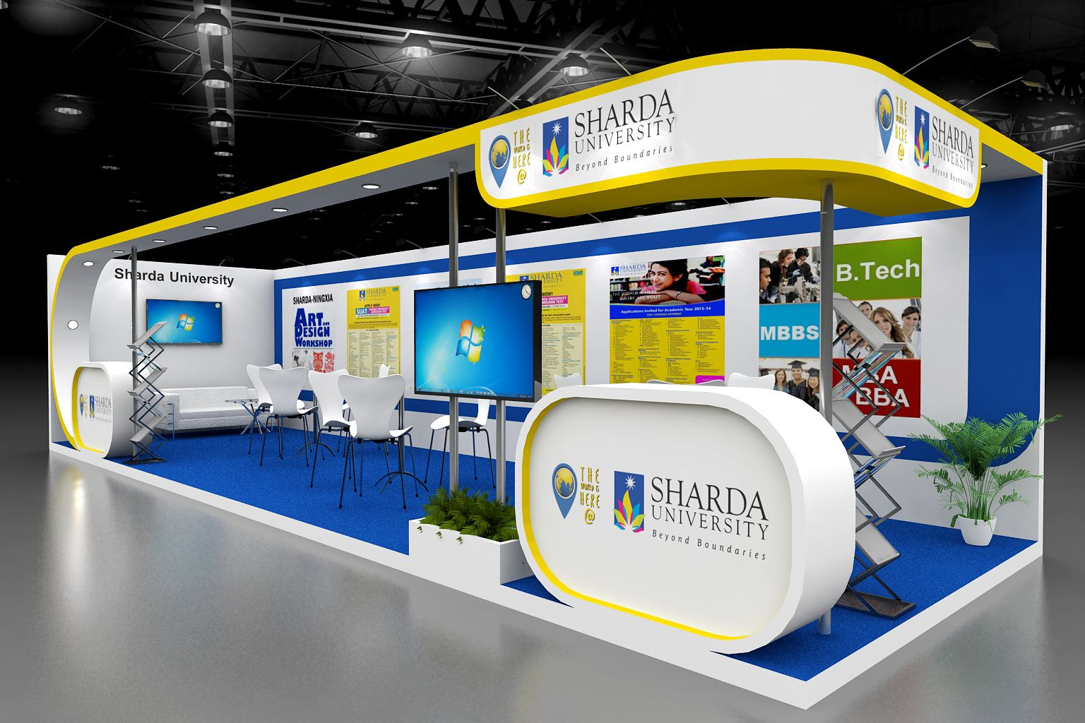 Exhibition Stand University : Education expo in for sharda university exhibition