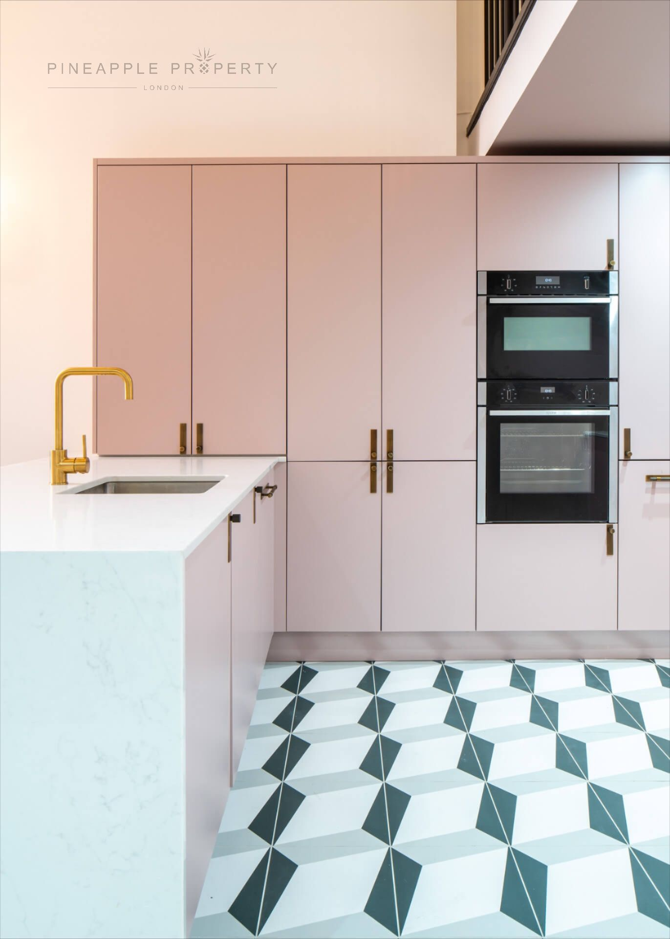 Pink Kitchen In 2020 Pink Kitchen Cabinets Pink Kitchen Kitchen Interior