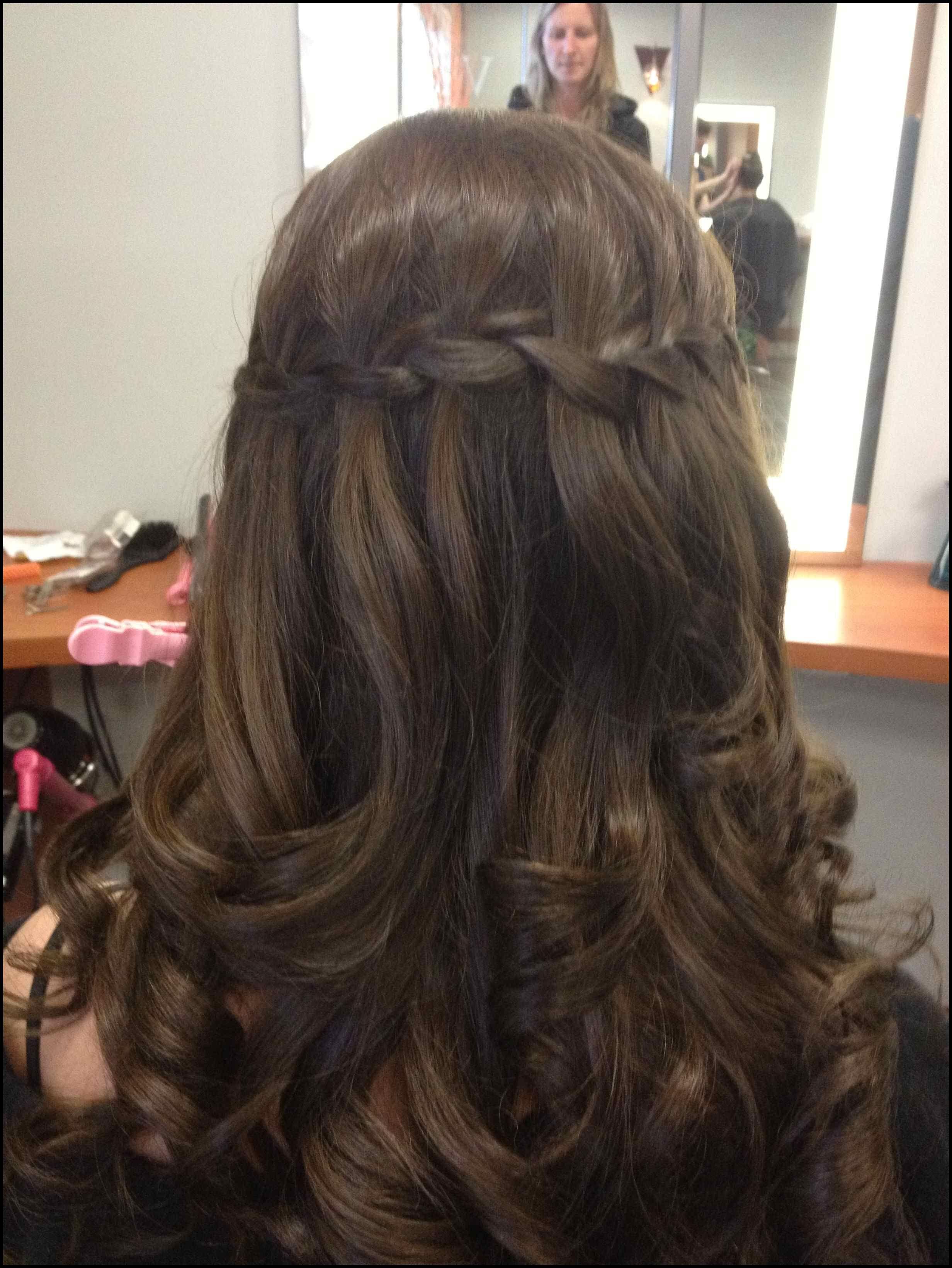 waterfall braid. dark brunette hair. | beauty | pinterest