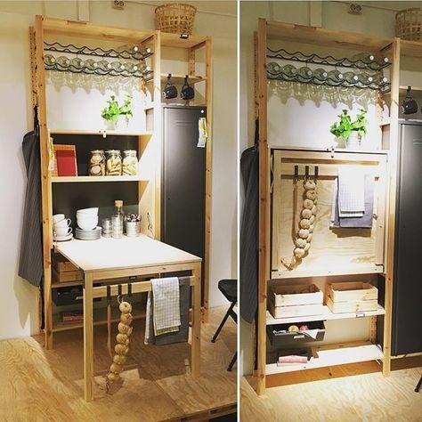 klapptisch im regal diy m bel pinterest klapptisch regal und k che. Black Bedroom Furniture Sets. Home Design Ideas