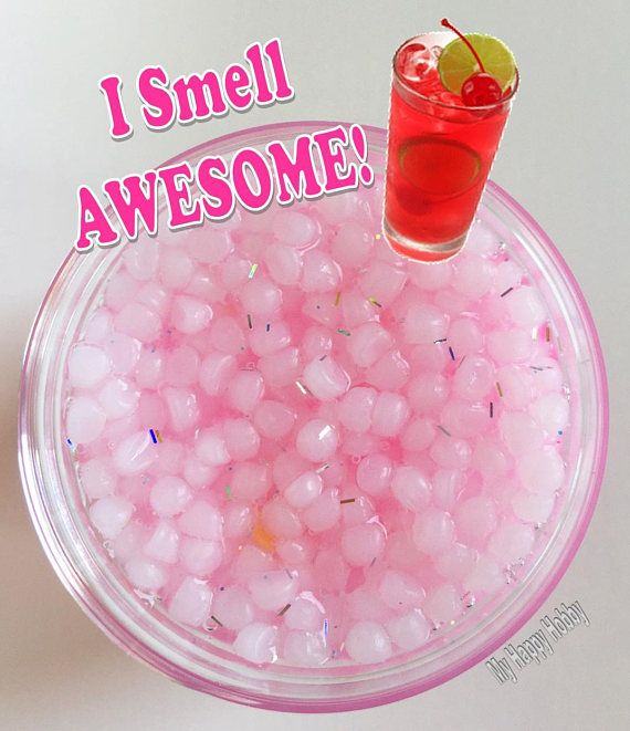 Homemade Cherry Lemonade Scented Slush Slime 3oz Super Cherry Lemonade Slimy Slime Slime