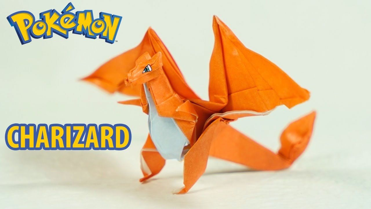 pokemon origami charizard tutorial intermediate