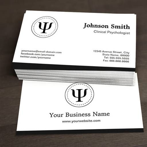 Psychology Business Card Templates Psychology Business Card Psychologist Business Card Business Cards Online