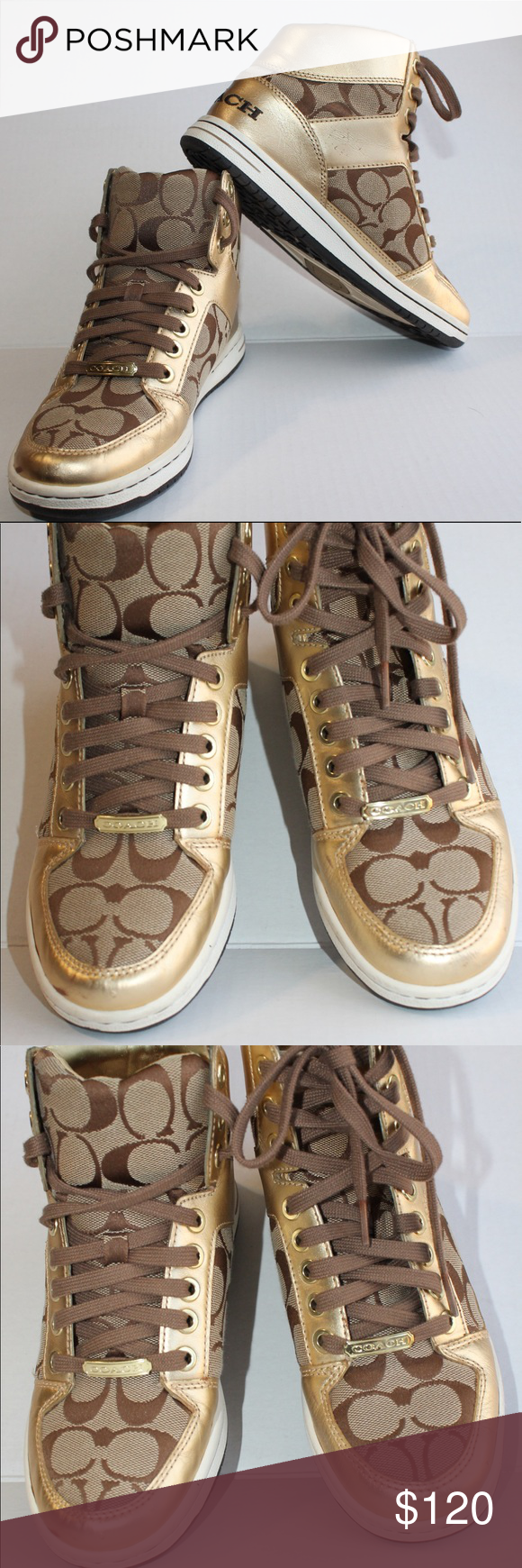 Coach Norra 6M gold sneakers Spot on toe Coach Shoes Sneakers