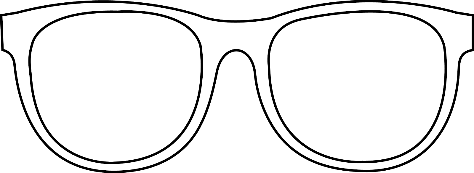 Sunglasses Outline Clip Art   Free clip art, Coloring ...