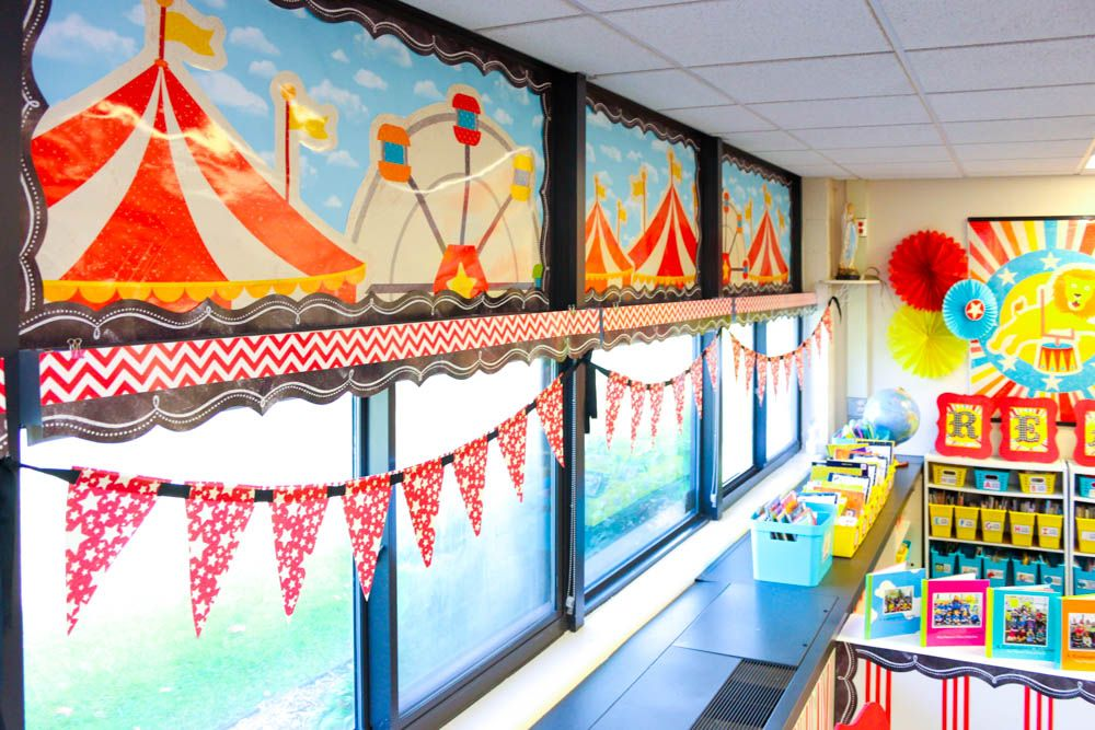 Circus Classroom Decoration Ideas : Take a tour of my vintage circus kindergarten classroom