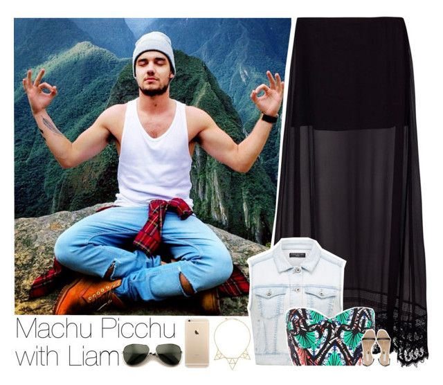 """""""Machu Picchu with Liam"""" by zalix ❤ liked on Polyvore featuring Tuesday Night Band Practice, Forever New, River Island, STELLA McCARTNEY, Jules Smith, Wildfox, LiamPayne, maxiskirt, sandals and machupicchu"""