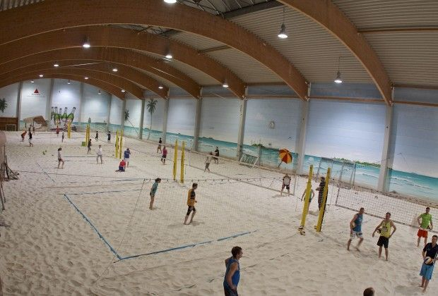 Image result for indoor/outdoor beach volleyball court ...