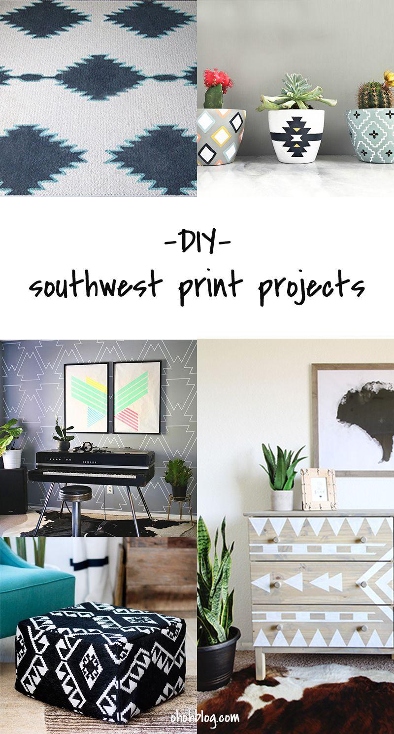 DIY to Try # southwest print projects | Tutorials, Crafts and Diy ...