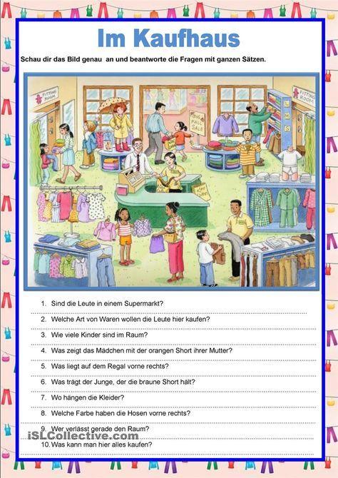 Bildbeschreibung - Im Kaufhaus | Basteln mit kindern | Pinterest ...