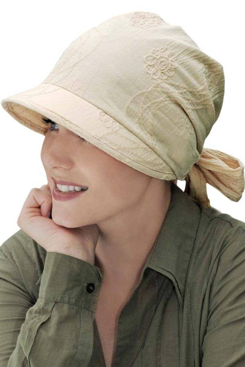 This visored headcovering is great for those with hair loss to cover up in  the sun d90e4f20967