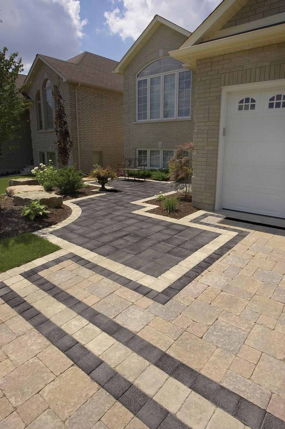 Unilock Brick Pavers | Driveway design, Front yard patio ... on Unilock Patio Ideas id=39573