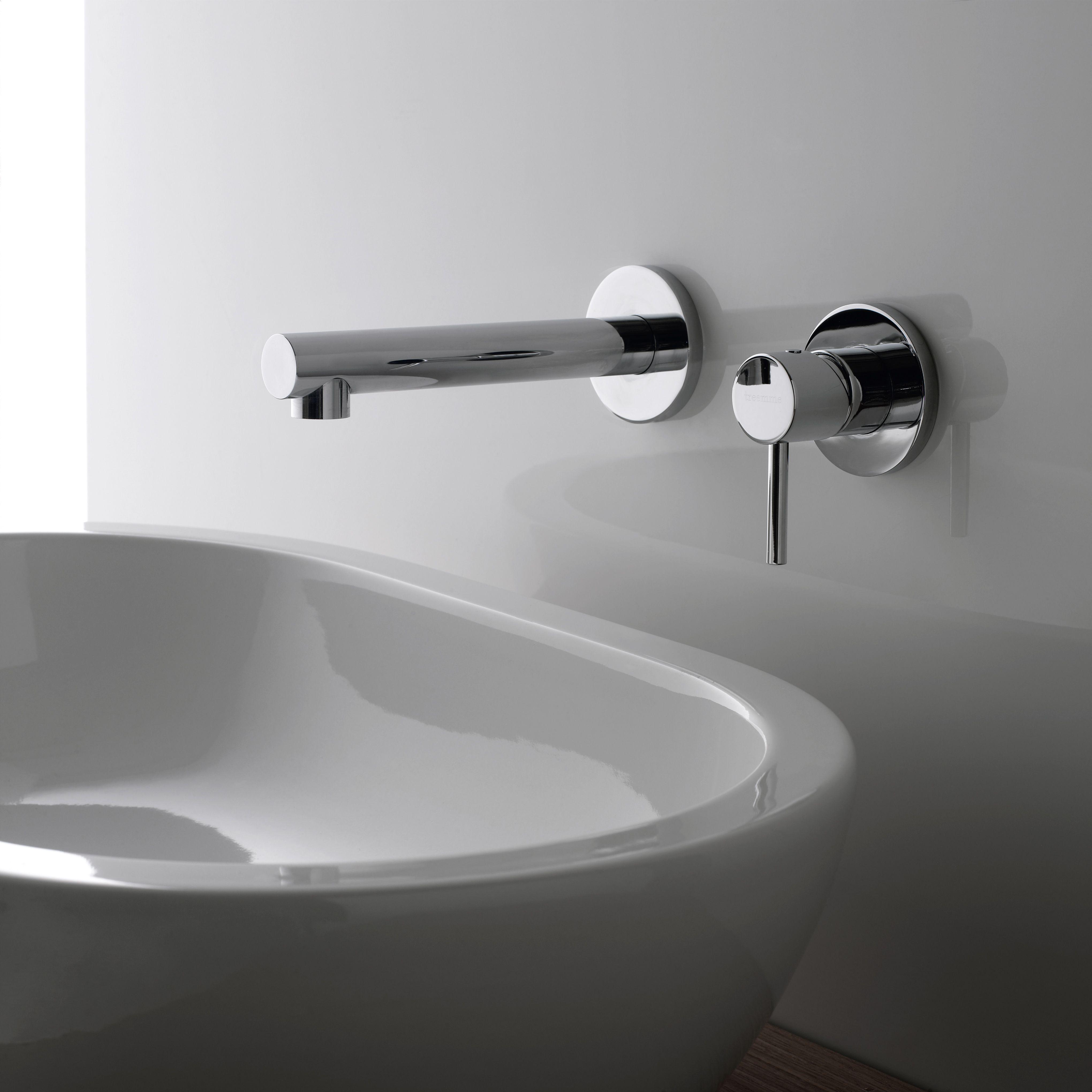 Miscelatore A Muro Per Lavabo miscelatore per lavabo a 2 fori a muro linea vela by